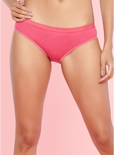Pack of 5 Solid and Graphic Panties,MULTI COLOR,large