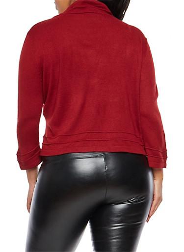 Plus Size Knit Shrug Sweater - Rainbow
