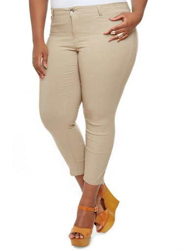 Cheap plus size khaki skinny jeans « Clothing for large ladies