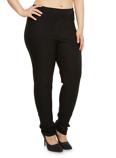 Plus Size Stretch Twill Pants,BLACK,large