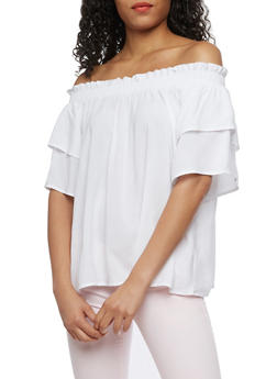 Smocked Off the Shoulder Top - 0004051069200