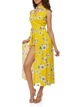 Tropical Print Maxi Romper - 0045015050398