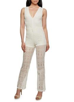 Sleeveless Lace Jumpsuit - 0045038346992