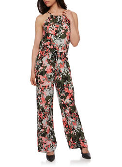 Printed Halter Jumpsuit - CAMOUFLAGE - 0045051060943