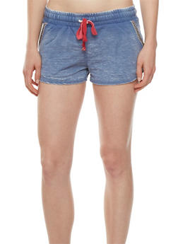 Almost Famous French Terry Shorts with Striped Trim - 0056015999202