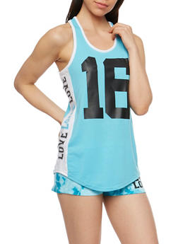 Love 16 Graphic Activewear Tank Top - 0056038345600