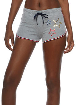 Star Shorts with Elastic Waist - 0056038345801