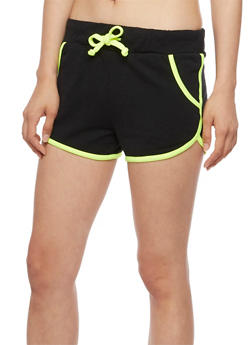 Contrast Trim Athletic Shorts - 0056038346301