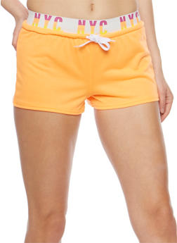 NYC Graphic Activewear Shorts - 0056038346401
