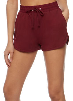 Athletic French Terry Drawstring Shorts - 0056054268290
