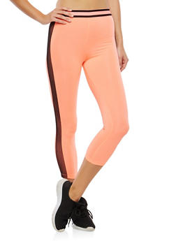 Mesh Trim Active Capri Leggings - 0058054266933