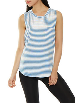 Striped Muscle Tank - 0058054268573