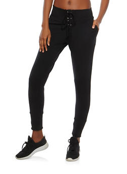 Lace Up Front Joggers - 0058054268639
