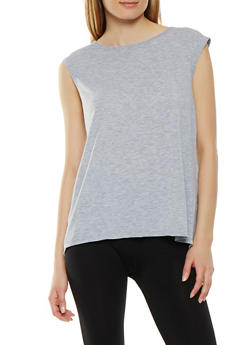 Split Mesh Back Activewear Top - 0058054269247