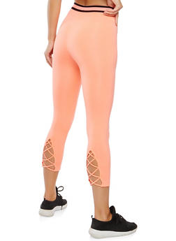 Elastic Band Trim Cropped Leggings - 0058054269334