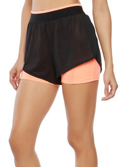 Double Layered Jersey Mesh Shorts - 0058054269382