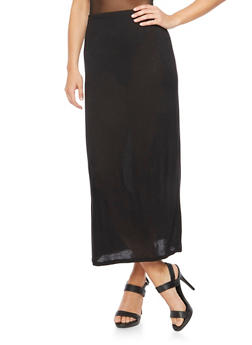 Solid Maxi Skirt - 0062054263254