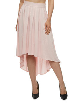 Pleated High-Low Skirt - 0062058933018