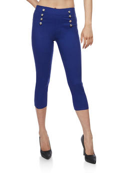 Stretch Knit Sailor Capri Pants - 0066072711679