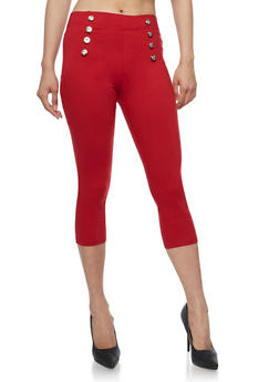 Stretch Knit Sailor Capri Pants - 0066072711679
