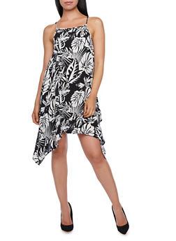 Printed Asymmetrical Dress - 0090038347779