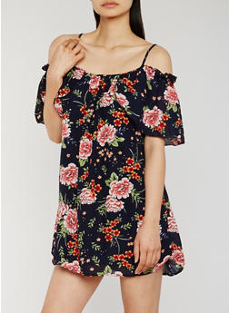 Floral Off the Shoulder Mini Dress - 0090051063217