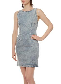 Sleeveless Denim Dress - 0090051063577