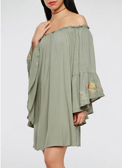 Off the Shoulder Peasant Dress - 0090051063677