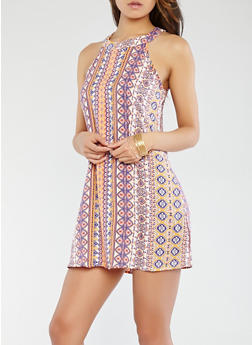 Printed Shift Dress - 0090051066619