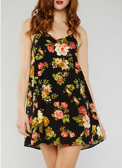 Floral A Line Slip Dress - 0090054268805