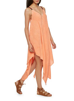 Trapeze Dress with Woven Straps - 0090070651511