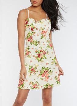 Sleeveless Rose Skater Dress - 0094038342975