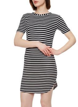 Striped T-Shirt Dress - 0094038346404