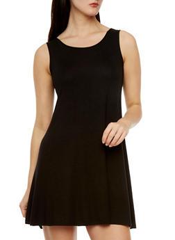 Sleeveless Swing Dress - 0094038346736