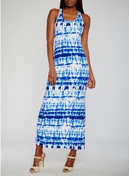 Tie Dye Maxi Tank Dress - 0094038347618