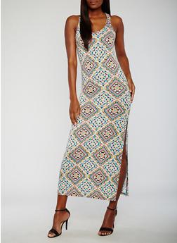 Printed Maxi Tank Dress - 0094038347926