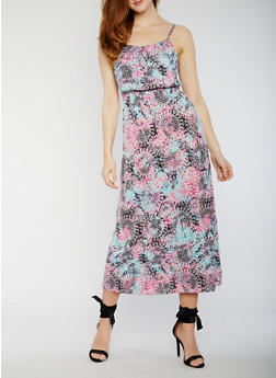 Sleeveless Printed Maxi Dress - 0094038347946