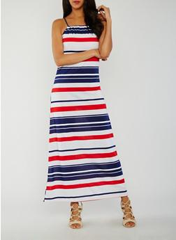 Americana Striped Maxi Tank Dress - 0094038347953