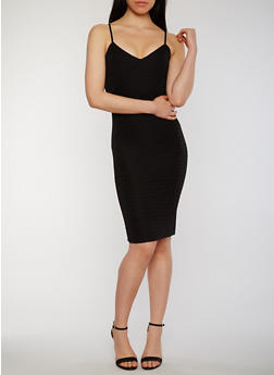 Sweetheart Neck Bandage Dress with Adjustable Straps - 0094038347992