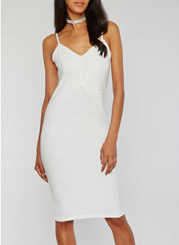 Sweetheart Neck Bandage Dress with Adjustable Straps - IVORY - 0094038347992