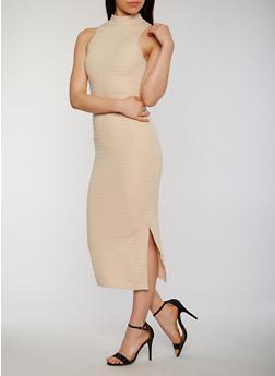 Mid Length Bandage Dress with Side Slit - 0094038347993