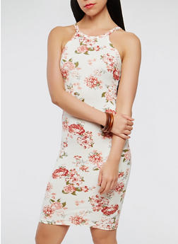 Floral Tank Dress - 0094038348945