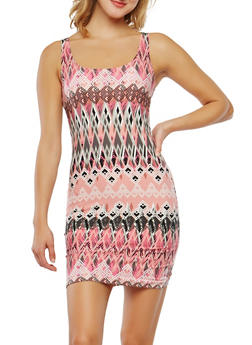 Printed Soft Knit Tank Dress - 0094038348960