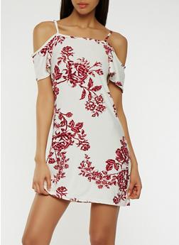 Soft Knit Off the Shoulder Dress - 0094038348974