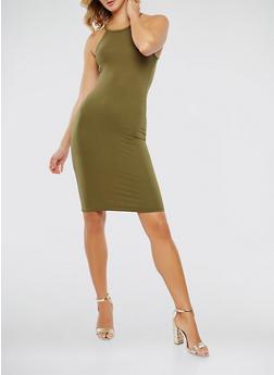 Soft Knit Solid Tank Dress - 0094038349803