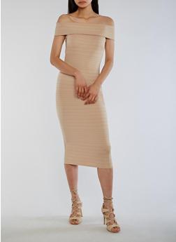 Off the Shoulder Bandage Dress - 0094058752105