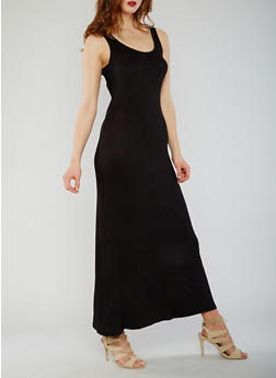 Sleeveless Caged Back Maxi Dress - 0094058752352
