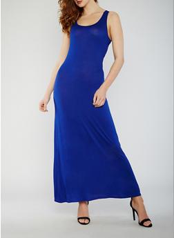 Sleeveless Caged Back Maxi Dress - 0094058752352