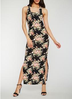 Floral Racerback Maxi Dress - 0094058752616