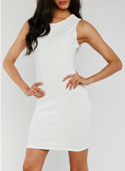 Sleeveless Bodycon Mini Dress - WHITE - 0094058935000